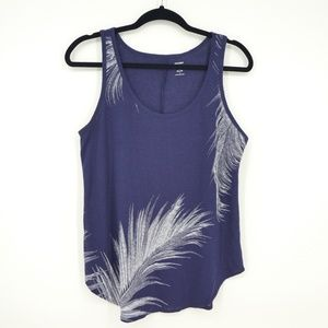 Old Navy Palm Leaf Blend Relaxed Tank Top (H19)